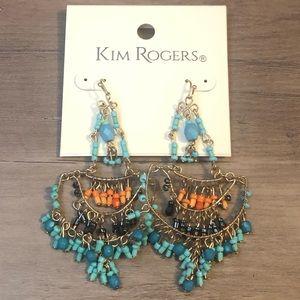 New Kim Rogers chandelier beaded earrings
